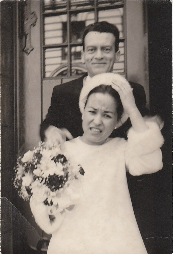 My Parents at their Wedding in the 1960's