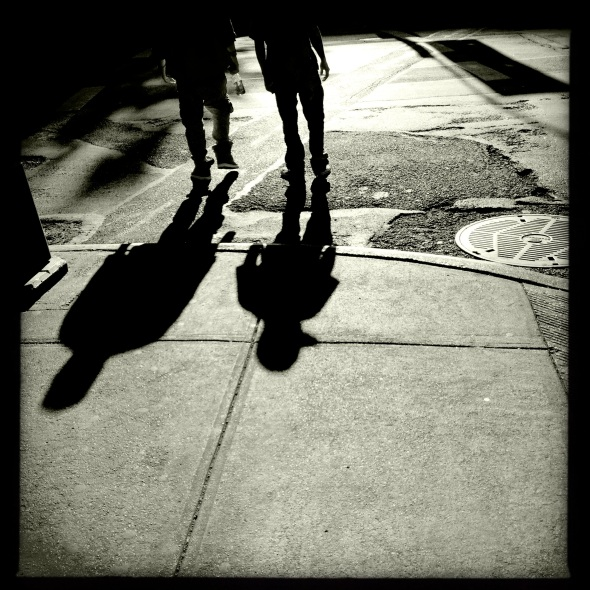 At midday / the tall man casts a / short shadow.