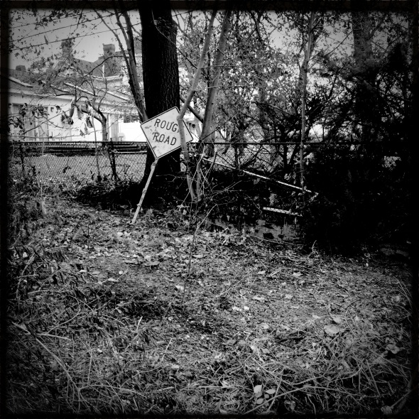 A rough road / debris and detritus / everywhere.