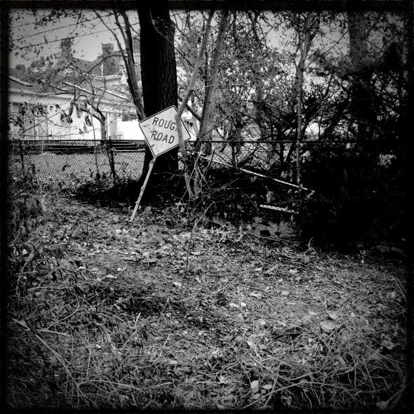 A rough road / debris and detritus / everywhere.