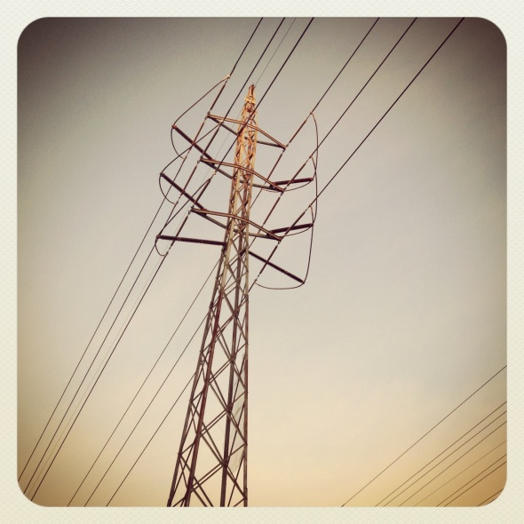 Orange kiss / sunrise caresses / powerlines. Haikumages