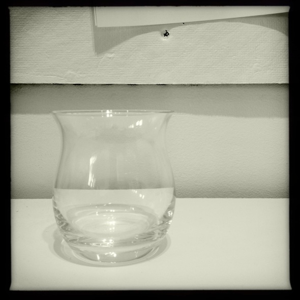 Empty glass / is completely full / of nothing. Haikumages