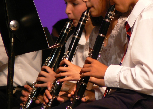 School concert / should a clarinet / squeak like that? Haikumages