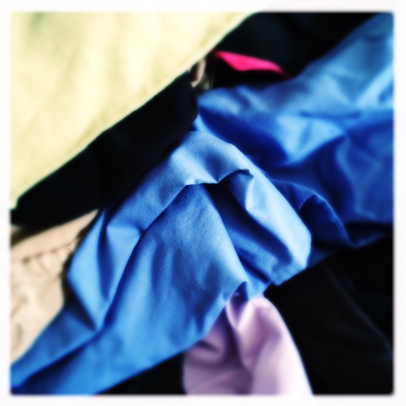 Folding the laundry / a moving meditation / order from chaos. Haikumages