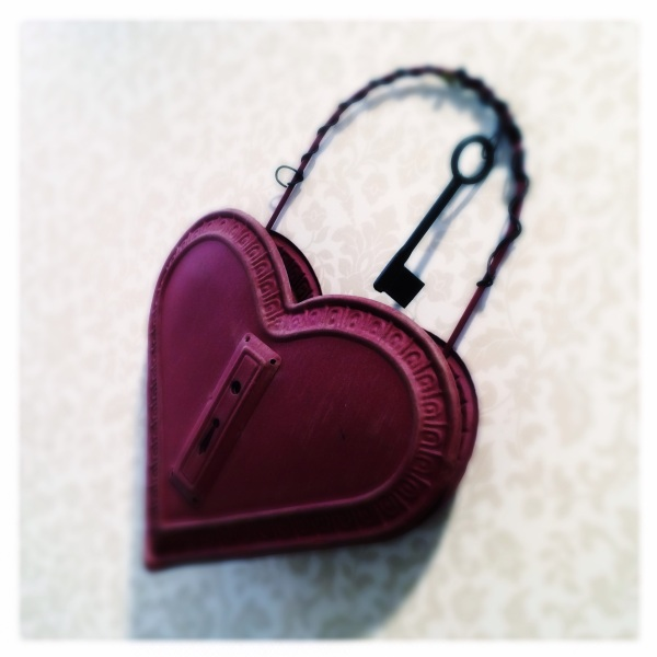 Big red heart secured / locked for its own protection / does that key still work? Haikumages