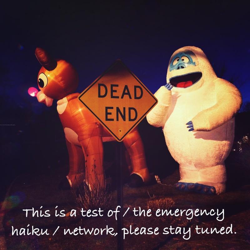 haiku, haikumages, haikugrams, poem, poetry, emergency, network, stay tuned / haikumages