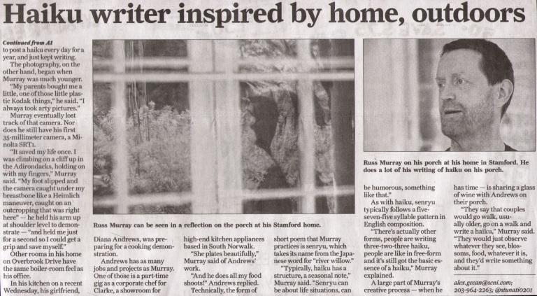 Haikumages - Russ Murray - in the Stamford Advocate Newspaper