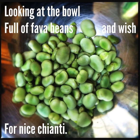 haikumages // Looking at the bowl / full of fava beans and wish / for nice Chianti.