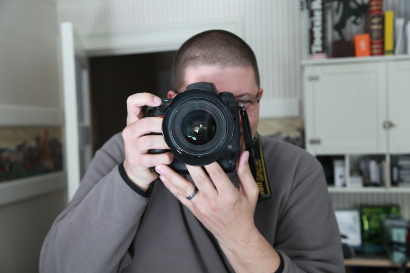 One photographer / shoots another, lens to lens / looping portraiture. // haikumages