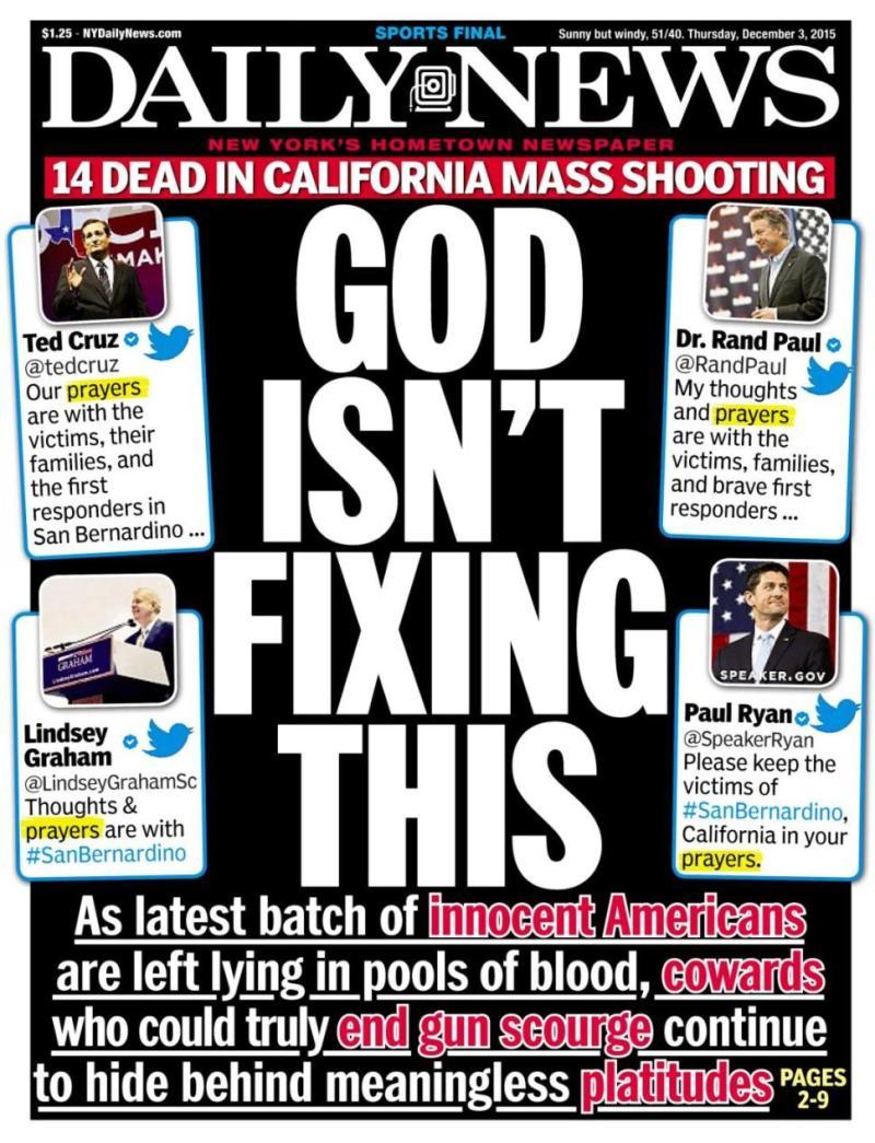God Isn't Fixing This - NY Daily News