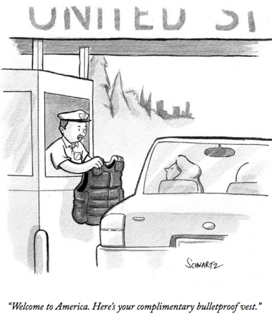Complimentary Bullet-Proof Vest - entering the USA