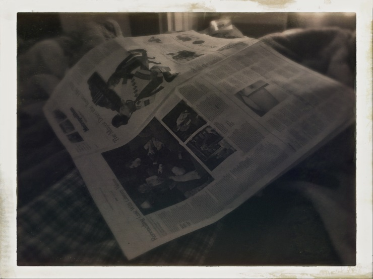 The morning paper / unread as eyelids protest / returning to sleep. // micropoetry - haiku - haikumages