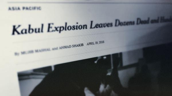 NYT - Kabul Afghanistan - 4/19/2016