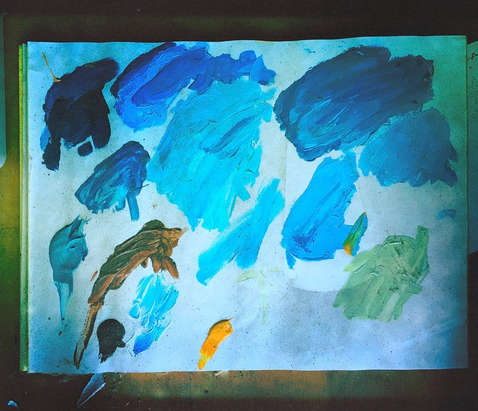 When he had the blues / he found solace in painting / now his palette's changed. // micropoetry - haiku - haikumages